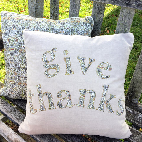 "Die-Cut Fusible Letters: ""Give Thanks"""