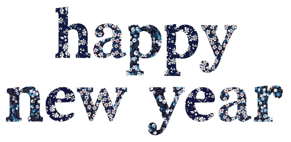"Die-Cut Fusible Letters: ""happy new year"""
