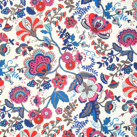 Liberty of London Tana Lawn: Mabelle Blue/Red (K)