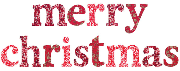 "Die-Cut Fusible Letters: ""merry christmas"" RED"
