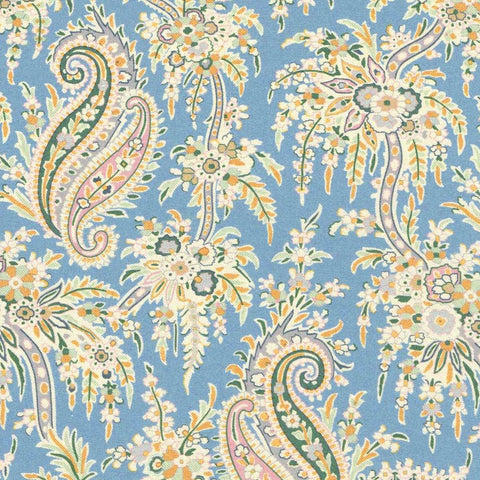 Remnant: Palm Paisley (B): 3 yards 18""