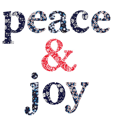 "Die-Cut Fusible Letters: ""peace & joy"""