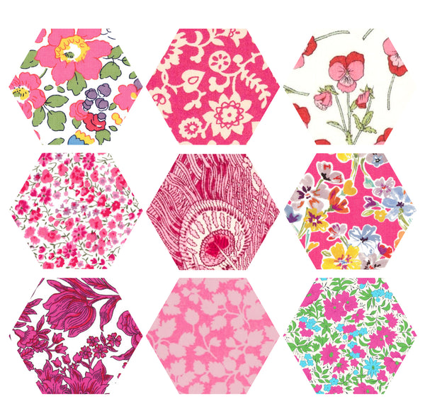 "1-1/4"" Hexagons: Pink"