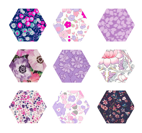 "1-1/4"" Hexagons: Purple"