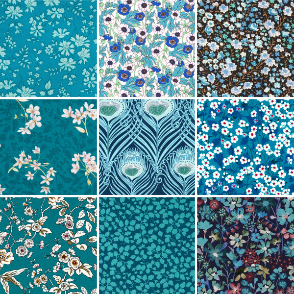 Charm Squares: Teal