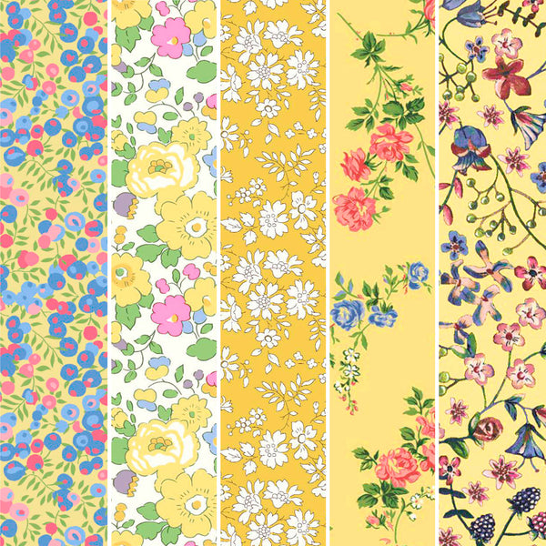 Liberty Fabrics Organic Tana Lawn: Yellow FQ Bundle