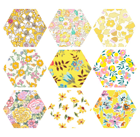 "1-1/4"" Hexagons: Yellow"