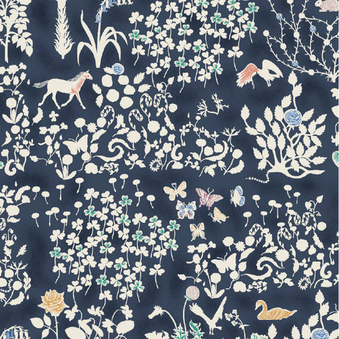 Liberty of London Tana Lawn:Yoshie Navy (A)
