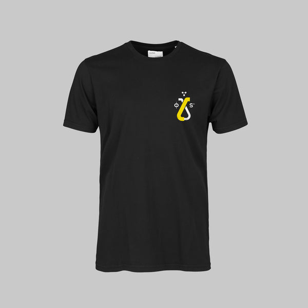 MINERAL BLACK TEE-SHIRT - YELLOW LOGO