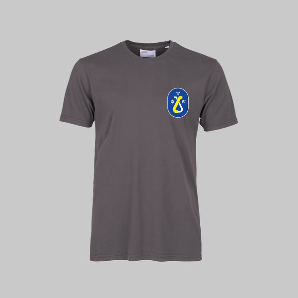 MAGNET GREY TEE-SHIRT - BLUE CARTOUCHE LOGO