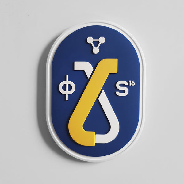 RUBBER PATCH - BLUE CARTOUCHE LOGO