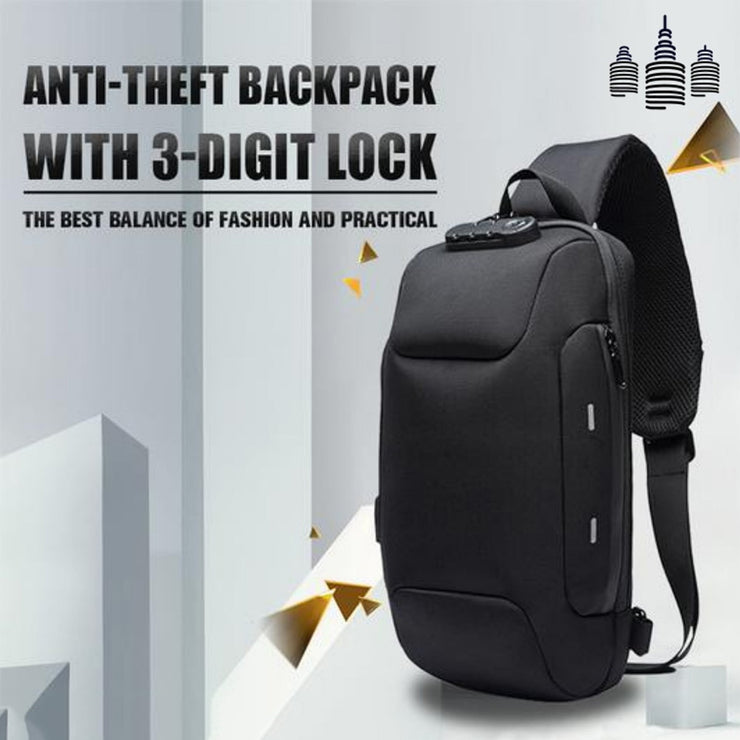 Anti-theft Backpack With 3-Digit Lock - Mscc2777