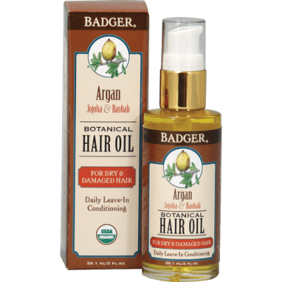 Badger Argan Botanical Hair Oil 2 fl oz