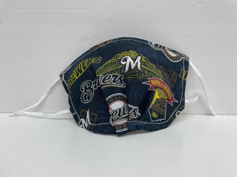 Two Whittle Birds - Milwaukee Brewers Face Mask
