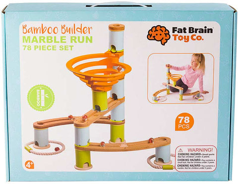 Fat Brain Bamboo Marble Run