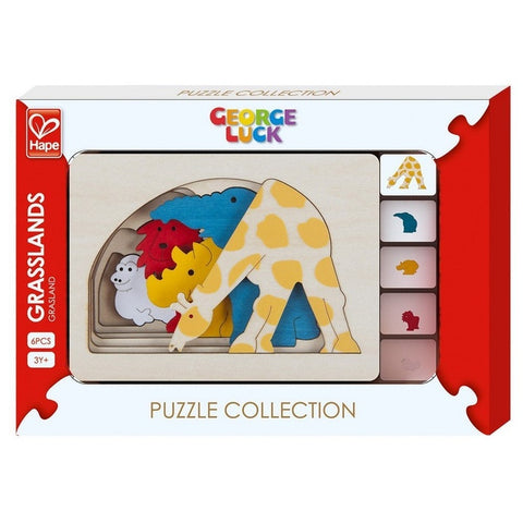 Hape George Luck Puzzle-Grasslands