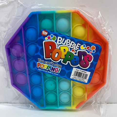 "Toy Network Bubble Poppers - 5"" Rainbow"