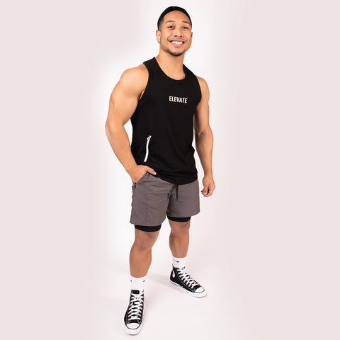 Charcoal Pro-Compression Shorts