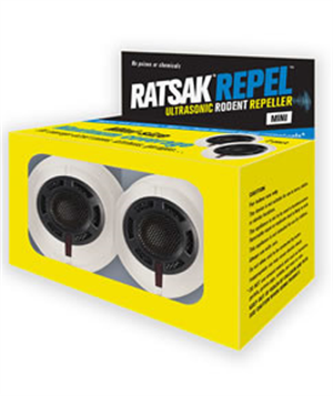 REPELLER RODENT ULTRSONIC MINI 2PK RATSAK