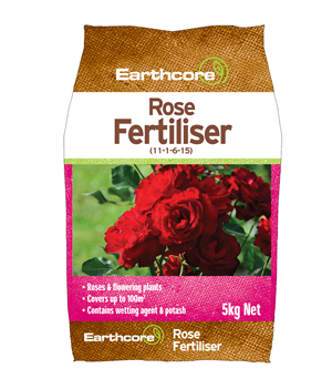 ROSE FERTILISER 5KG EARTHCORE