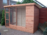 8' x 4' All Weather Aviary with 2' Porch
