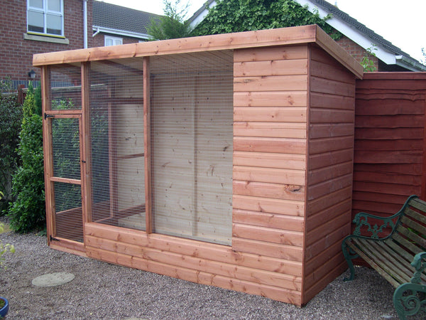8' x 4' All Weather Cat Aviary with 2' Porch