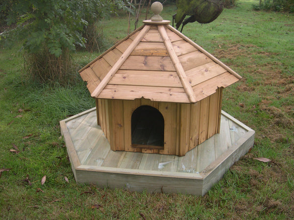 Tall Hexagonal Duck House and Float