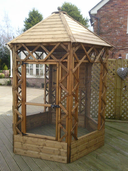Victorian Hexagonal Cat Aviary