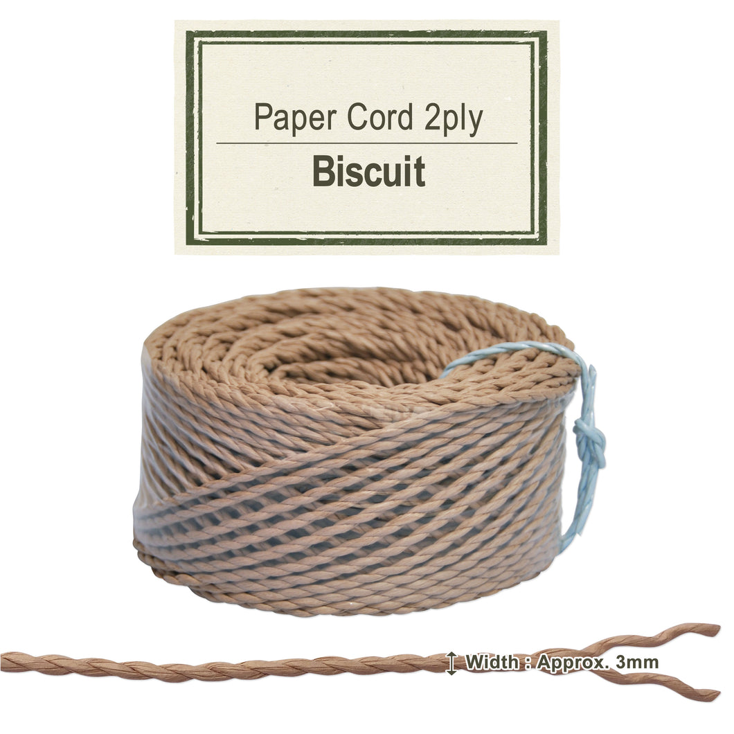 Biscuit 3mm [Paper Cord 2ply]