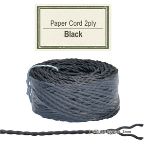 Black 3mm [Paper Cord 2ply]