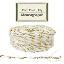 Load image into Gallery viewer, Champagne Gold [Paper Cord 3ply]