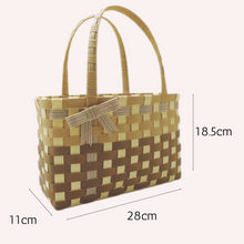 Load image into Gallery viewer, DIY Two-Tone Color Basket Tote KIT (Pre-cut) PLAIN WEAVE