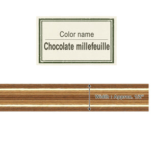 Chocolate Millefeuille 13mm