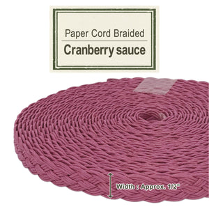 Cranberry Sauce 14mm [Paper Cord Braided]