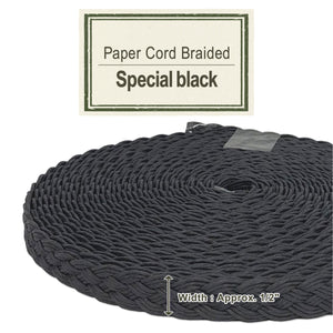 Special Black 14mm [Paper Cord Braided]
