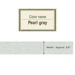 Pearl Gray  15mm [Craft Band]