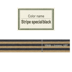 Stripe Special Black  13mm [Craft Band]