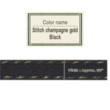 Load image into Gallery viewer, Stitch Champagne Gold Black   15mm [Craft Band]