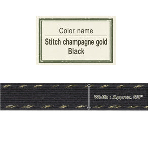 Stitch Champagne Gold Black   15mm [Craft Band]