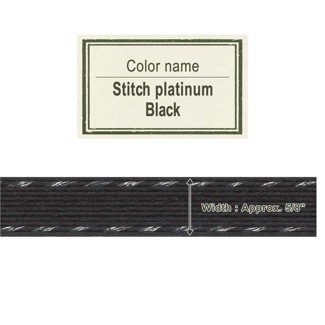Stitch Platinum Black   15mm [Craft Band]