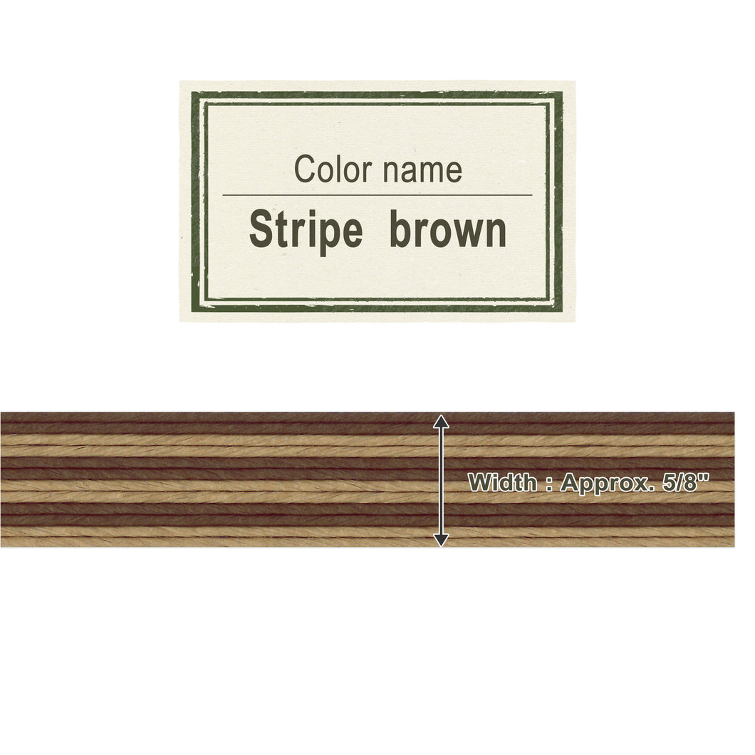 Stripe Brown 15mm [Craft Band]