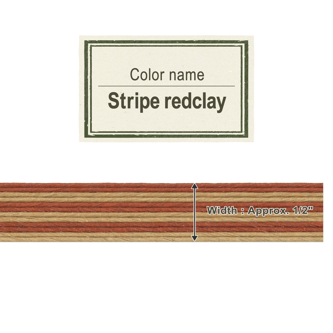 Stripe Red Clay  13mm