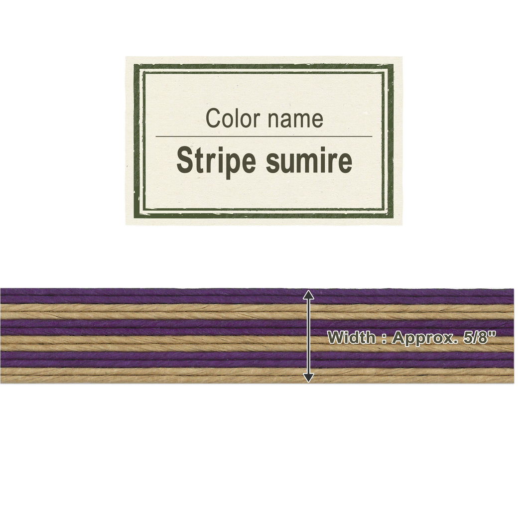 Stripe Sumire  15mm [Craft Band]