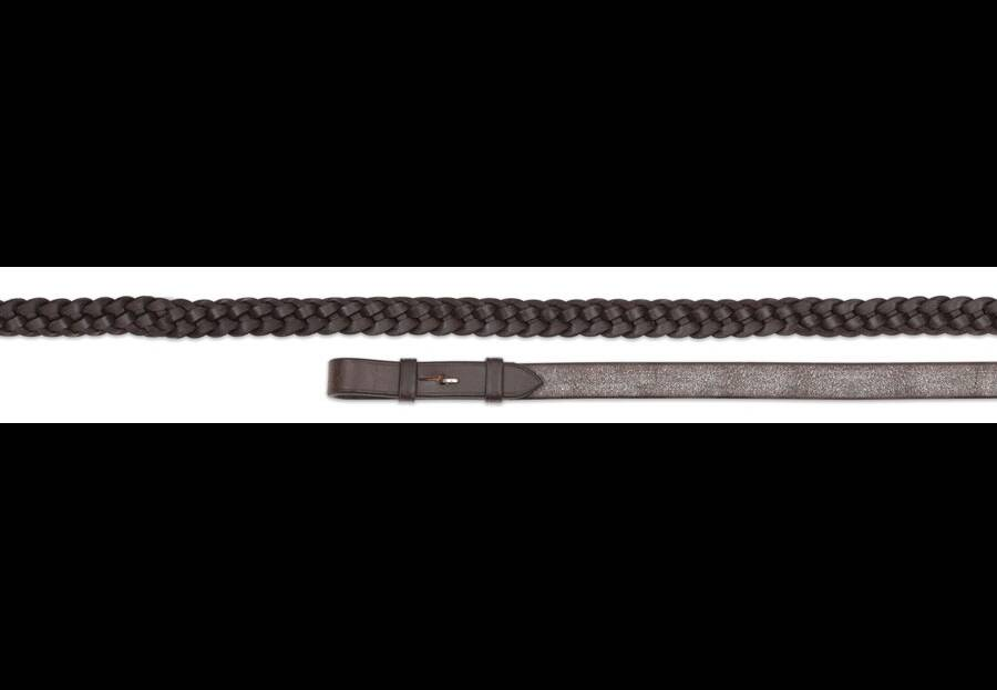 Shires Aviemore Plaited Leather Reins
