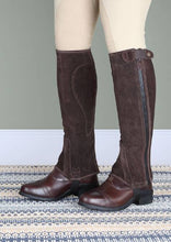 Load image into Gallery viewer, Shires Moretta Suede Half Chaps - Childs