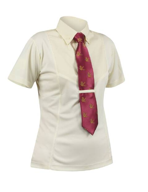 Shires Short Sleeve Tie Shirt - Ladies Yellow