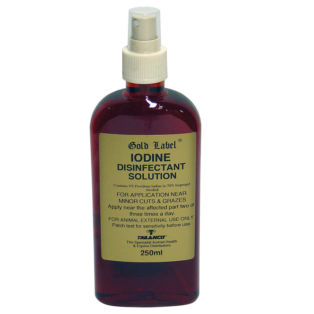 GOLD LABEL IODINE SPRAY 250ml