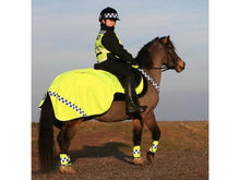 Load image into Gallery viewer, Equisafety Polite Winter Fluorescent Exercise Rug
