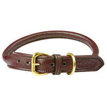 Load image into Gallery viewer, WEATHERBEETA ROLLED LEATHER DOG COLLAR