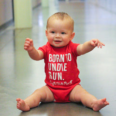 Red Undie Runner Baby Onesie